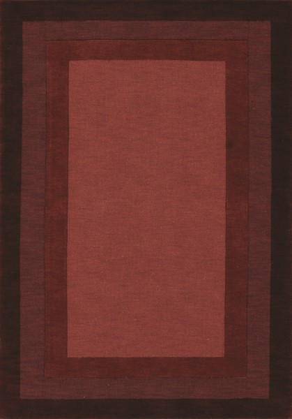 Red Bordered Area Rug