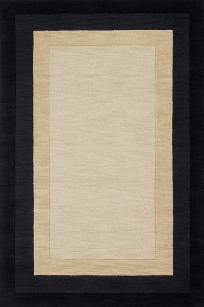 Ivory, Charcoal Bordered Area Rug