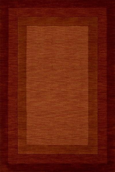 Rust Bordered Area Rug