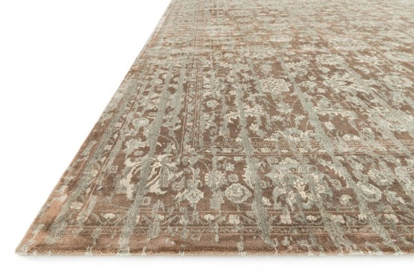 Mocha Traditional / Oriental Area Rug