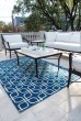 Product Image of Blue, Ivory Outdoor / Indoor Area Rug