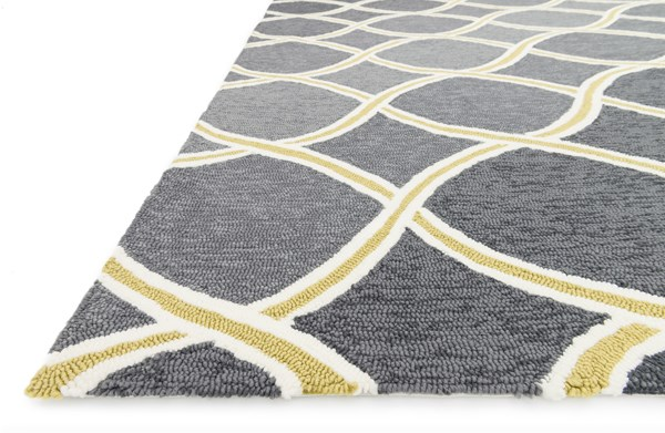 Charcoal, Lime Contemporary / Modern Area Rug