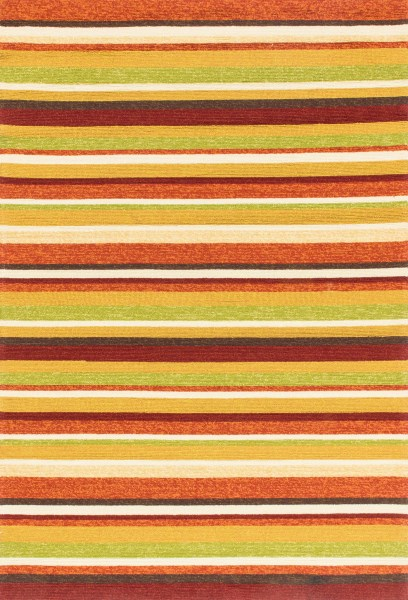 Sunset Striped Area Rug