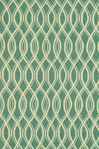 Turquoise, Ivory Transitional Area Rug
