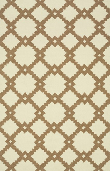 Ivory, Taupe Contemporary / Modern Area Rug