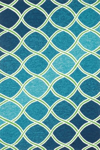 Blue, Green Contemporary / Modern Area Rug
