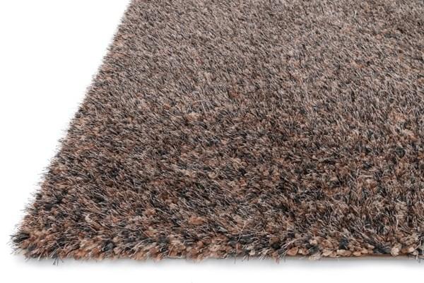Dark Brown Shag Area Rug