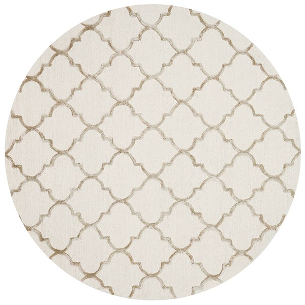 Ivory, Beige Moroccan Area Rug