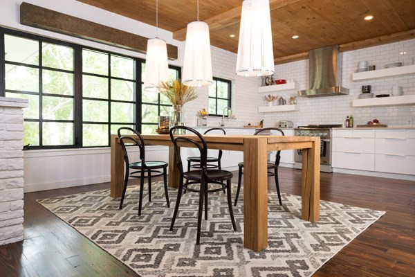 Ivory, Grey Moroccan Area Rug