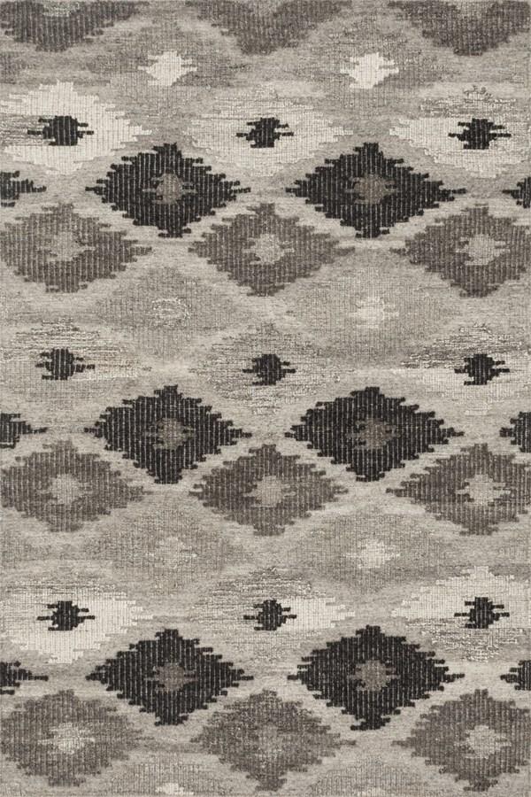 Grey, Charcoal Southwestern / Lodge Area Rug