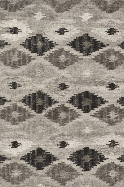 Grey, Charcoal Moroccan Area Rug