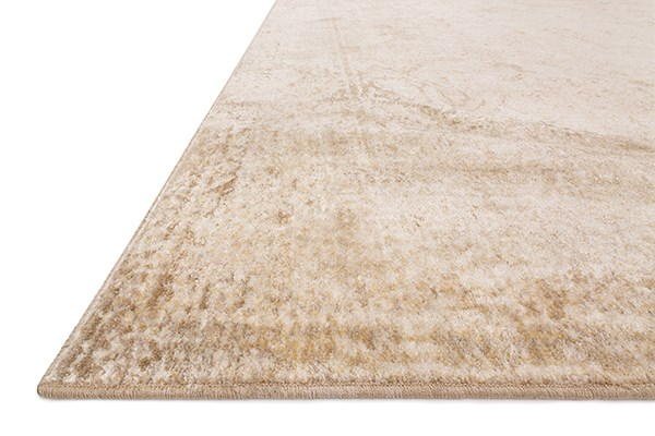Ivory, Light Gold Vintage / Overdyed Area Rug