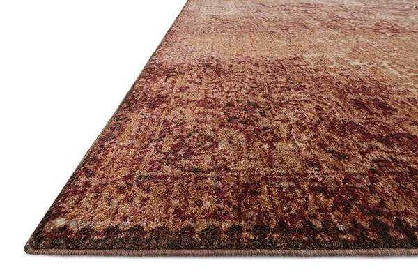 Copper, Ivory Vintage / Overdyed Area Rug
