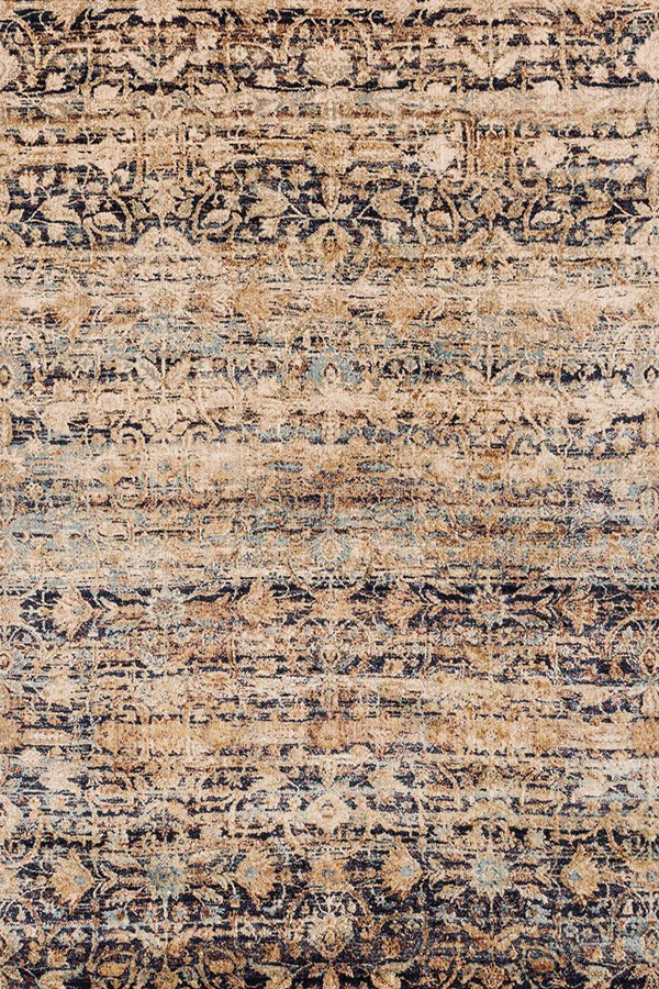 Sand, Navy Vintage / Overdyed Area Rug