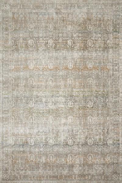 Grey, Tan Vintage / Overdyed Area Rug