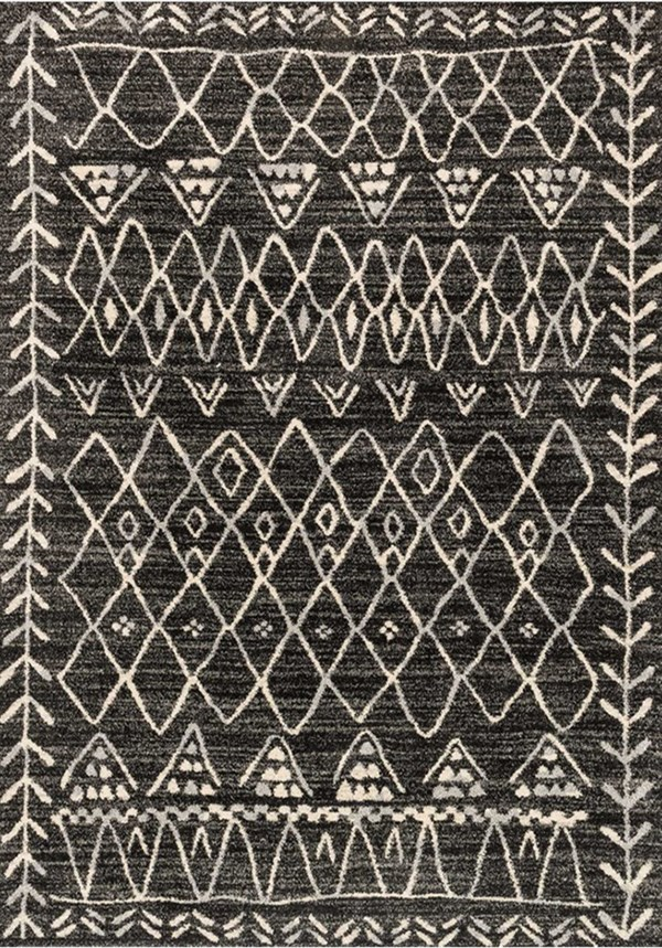 Black, Ivory Southwestern / Lodge Area Rug