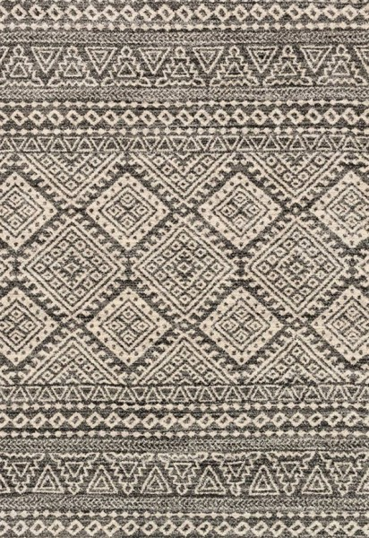 Graphite, Ivory Southwestern / Lodge Area Rug