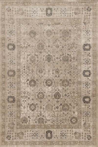 Taupe, Taupe Traditional / Oriental Area Rug