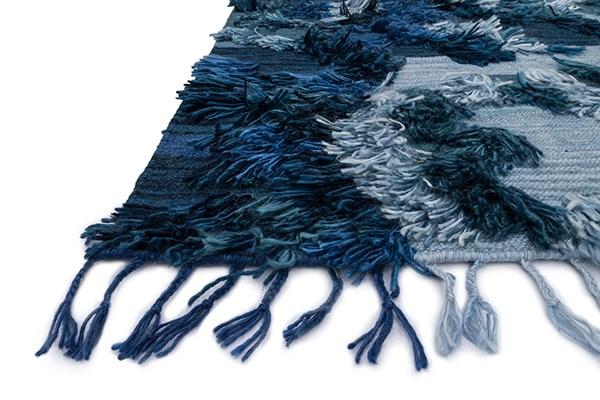 Indigo, Light Blue Southwestern / Lodge Area Rug