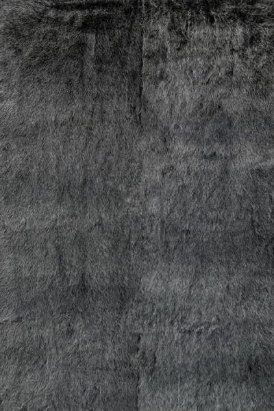 Black, Charcoal Shag Area Rug