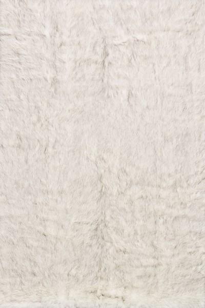 Ivory, Grey Shag Area Rug