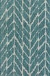 Product Image of Chevron Teal, Grey Area Rug