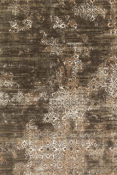 Dark Taupe, Gold Vintage / Overdyed Area Rug