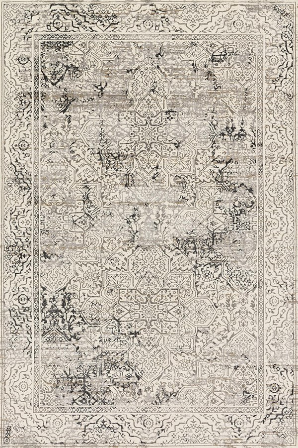 Ivory, Grey Vintage / Overdyed Area Rug