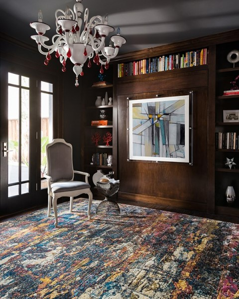Midnight, Blue  Contemporary / Modern Area Rug
