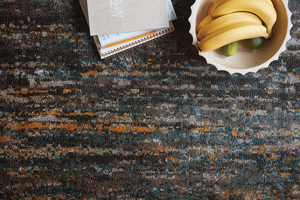 Slate, Orange Transitional Area Rug