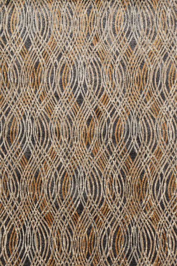 Charcoal, Gold Transitional Area Rug