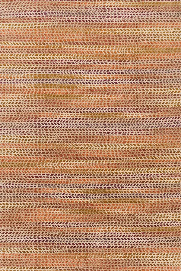 Orange, Sunset Contemporary / Modern Area Rug