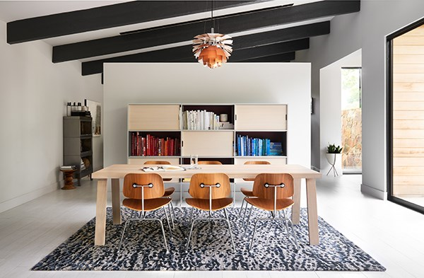 Steel, Blue Transitional Area Rug