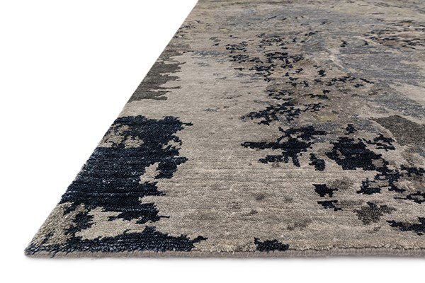Grey, Navy Transitional Area Rug
