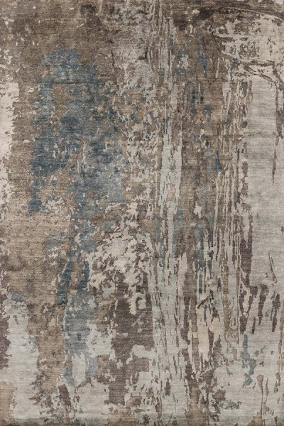 Teal, Graphite Contemporary / Modern Area Rug
