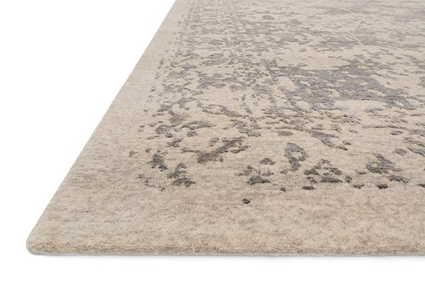 Pewter Traditional / Oriental Area Rug