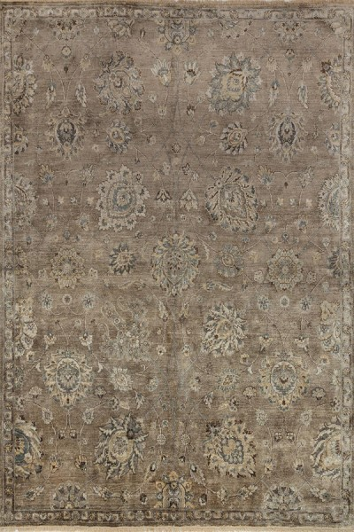 Feather, Gray Traditional / Oriental Area Rug