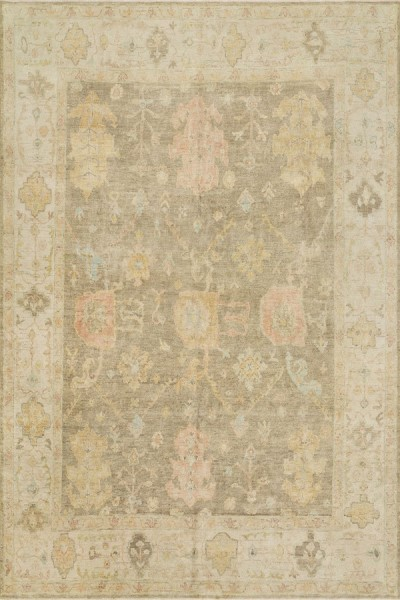 Moss, Gray Traditional / Oriental Area Rug