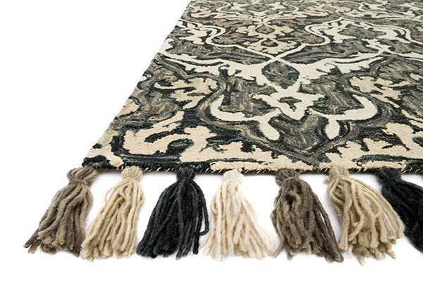Charcoal, Grey Transitional Area Rug