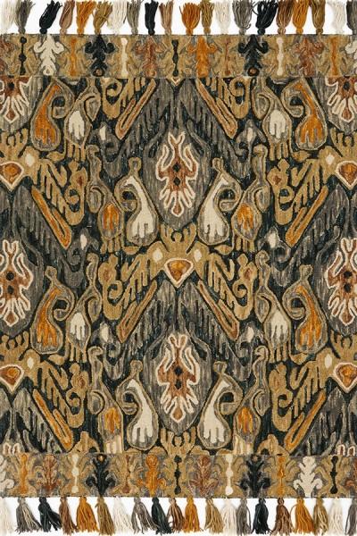 Charcoal, Khaki Bohemian Area Rug