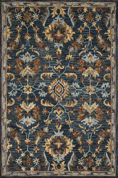 Denim Traditional / Oriental Area Rug