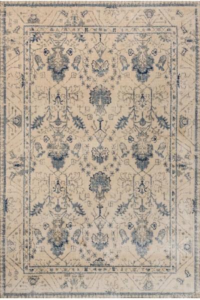Ivory, Slate Traditional / Oriental Area Rug