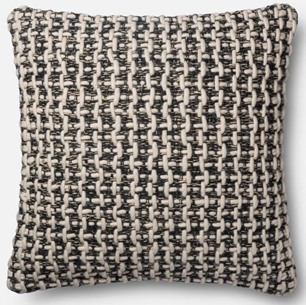 Black, White Natural Fiber pillow