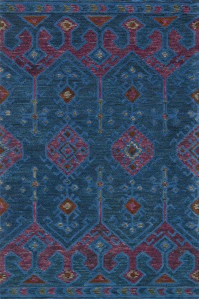 Blue, Plum Bohemian Area Rug