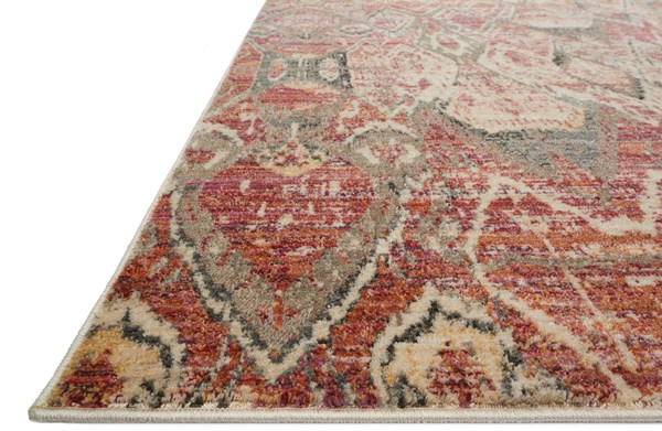 Berry, Ivory Ikat Area Rug