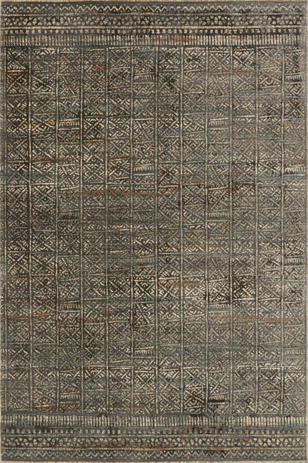 Charcoal, Silver Southwestern / Lodge Area Rug