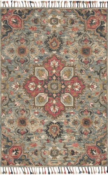 Light Blue Bohemian Area Rug