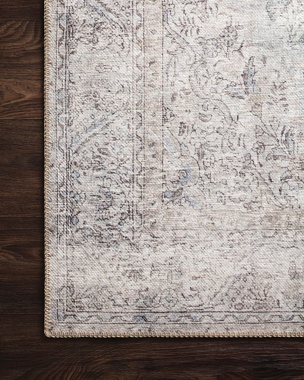 Silver, Slate Vintage / Overdyed Area Rug