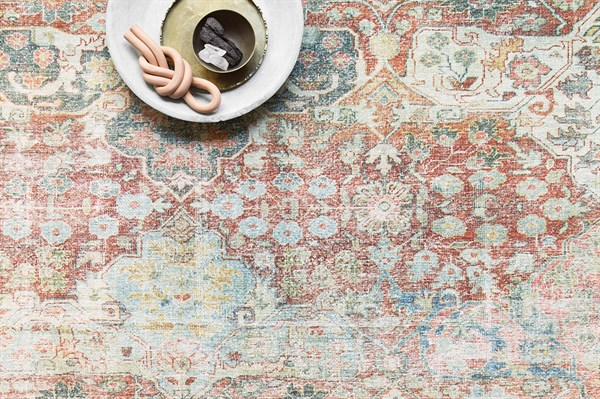 Brick Vintage / Overdyed Area Rug