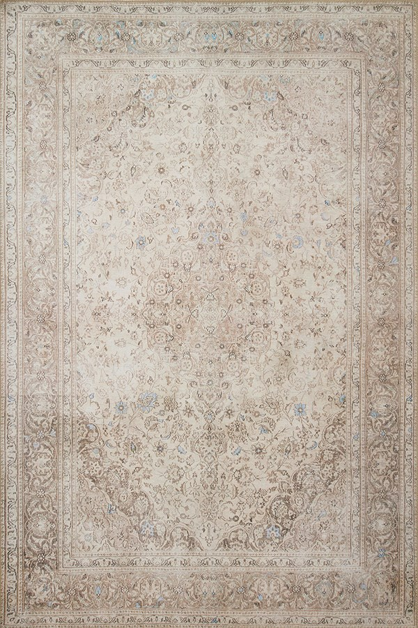 Sand, Taupe Vintage / Overdyed Area Rug